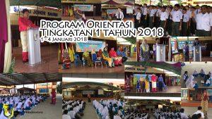 Program Orientasi Tingkatan 1 Tahun 2018