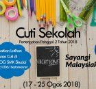 Latihan Masa Cuti Ogos 2018