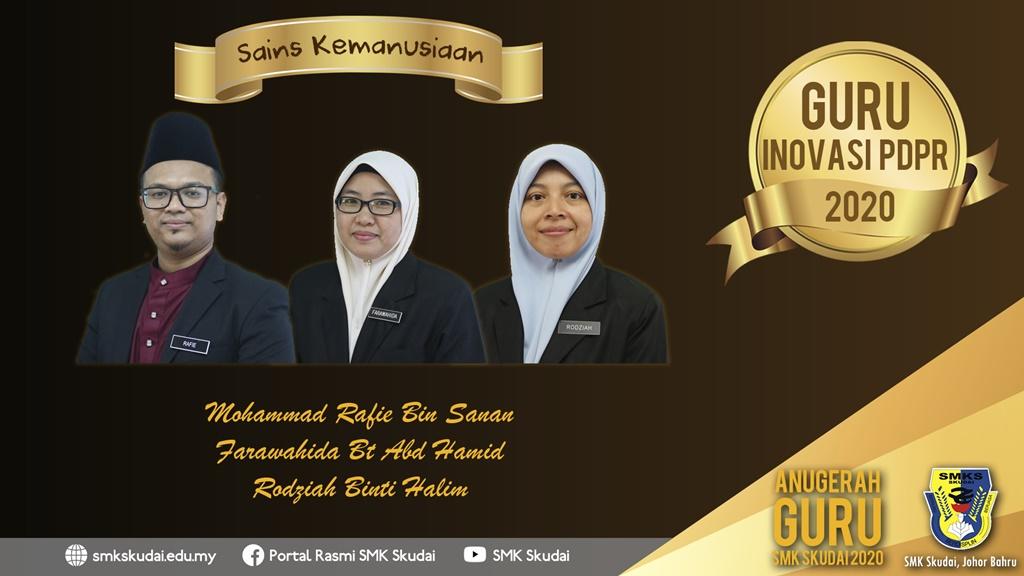 Anugerah Guru SMK Skudai 2020 - Guru Inovasi PdPR 2020 (Sains Kemanusiaan)