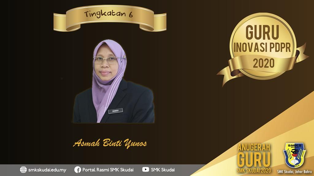 Anugerah Guru SMK Skudai 2020 - Guru Inovasi PdPR 2020 (Tingkatan 6)