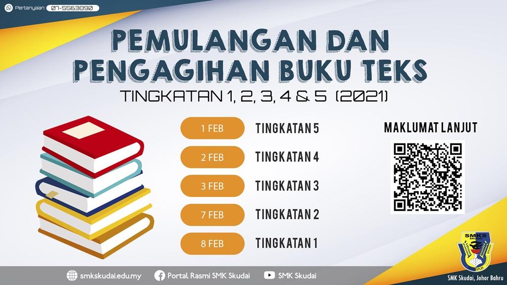 Makluman Terkini Pemulangan dan Pengagihan Buku Teks Tingkatan 1, 2, 3, 4 dan 5 (2021)