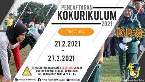 Pendaftaran Kokurikulum Tingkatan 1 dan 4 secara Atas Talian bermula 21 – 27 Februari 2021