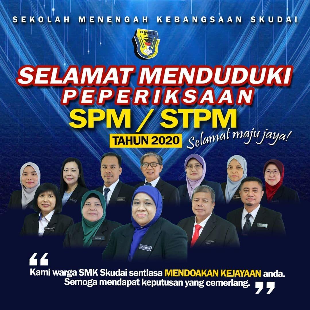 Selamat Menduduki Peperiksaan SPM dan STPM Tahun 2020