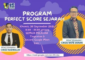 Read more about the article Makluman Program Perfect Score Sejarah