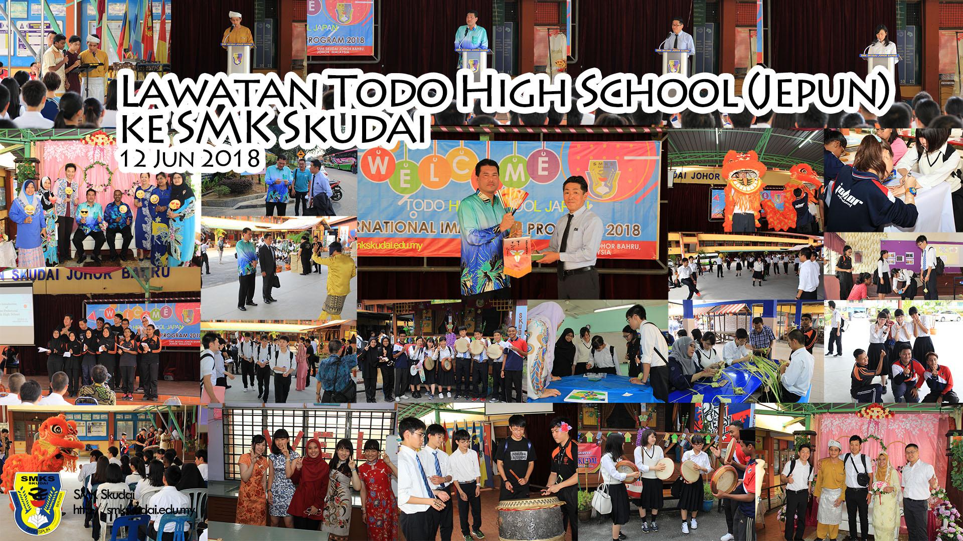 Lawatan Todo High School (Jepun) ke SMK Skudai